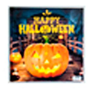 Cuadro diseño Calabaza de Halloween con Luz Led de 40x40x1.8cm