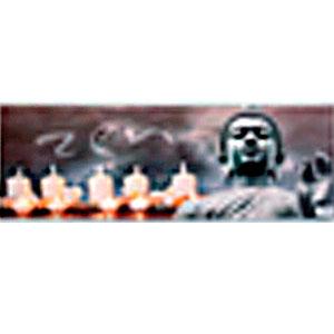 Cuadro diseño Buda con velas y Luz Led de 30x90x1.8cm