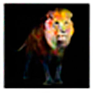 Cuadro diseño pintura de Leon de 100x100x1.8cm