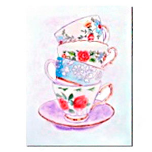 Cuadro diseño Tazas de café de 30x40x1.5cm