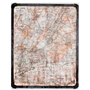 Cuadro c/marco de metal diseño Mapa de 40x50x3cm