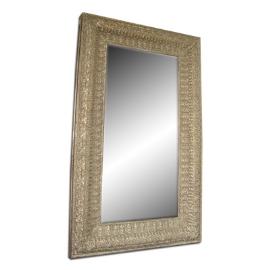 Espejo en marco de madera estilo clásico dorado de 80x174cm