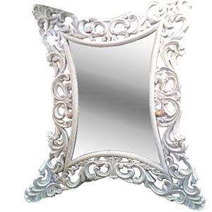 Espejo en marco de madera calado estilo clásico de 66x96.5cm
