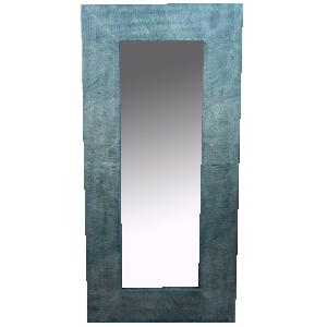 Espejo con Marco labrado color gris de 191x92x5.5cm