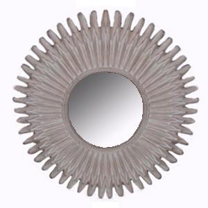 Espejo con Marco redondo labrado terminado antiguo de 121x121x6cm