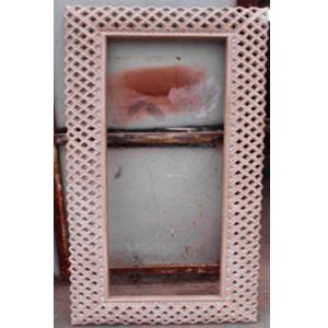 Marco con espejo labrado diseño rombos de 182x83x3cm