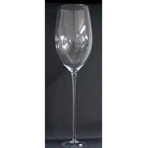 Florero diseño copa de cristal de 120x35x35cm
