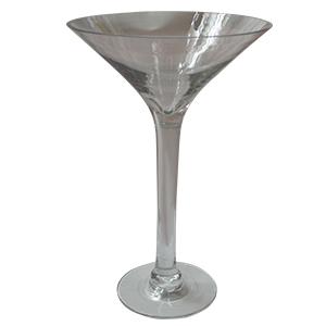 Copa de vidrio tipo martinera de 34 x 23cm