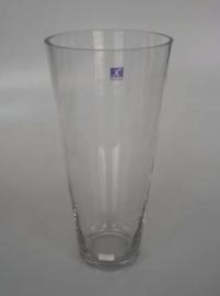 Florero de vidrio conico de 45x22 cm