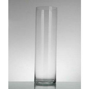 Florero de vidrio cilindrico de 80 cm