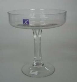 Copa de vidrio dulcera  19.5 x 20 cm