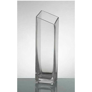 Florero de vidrio sesgado  8.5 cm x 25 cm