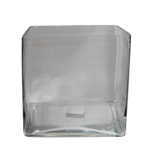 Florero de vidrio cuadrado 20 x 20 cm