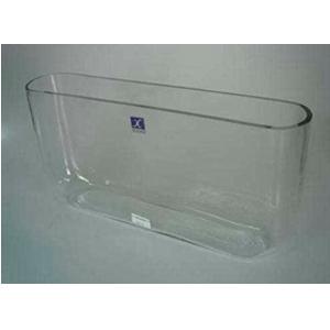 Florero de vidrio rectangular 38 x 6.5 x 19  cm