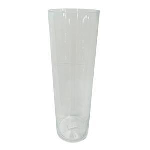 Florero de vidrio cilíndrico de 50x15cm