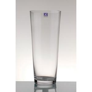 Florero de vidrio conico 19x35cm
