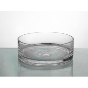 Florero de vidrio cilindrico de 20 x h 11 cm