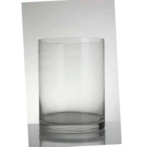 Florero de vidrio redondo de 20 x h 20 cm