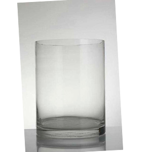 Florero de vidrio redondo  de 20 x h 40 cm