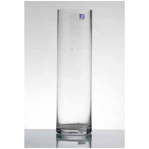 Florero cilindrico de vidrio 100 x 20 x20