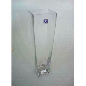 Florero de cristal cuadrado de 10.5X7X35