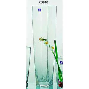 Florero de cristal cuadrado de 11.5X8X50cm