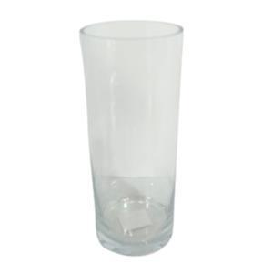 Florero de vidrio cilindrico de 25x10cm