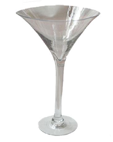 Copa cristal diseño martinera transparente  de 25x16x42cm