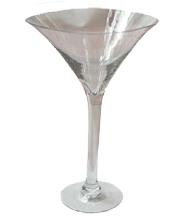 Copa cristal diseño martinera  transparente de 31.5x18x80cm