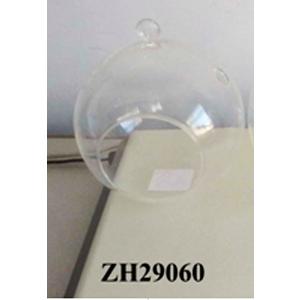 Candelabro redondo diseño esfera de cristal transparente de 13x14.5cm