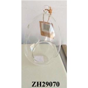 Candelabro diseño ovalado de cristal transparente de 11x18cm