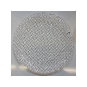 Plato de presentacion de cristal transparente de 33cm