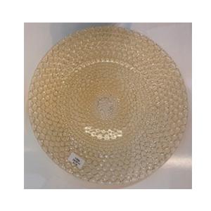 Plato de presentacion de cristal diseño cadenas doradas de 33cm