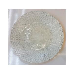 Plato de presentacion de cristal diseño cadenas platas de 33cm