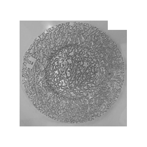 Plato de presentacion de cristal diseño raíces platas de 33cm