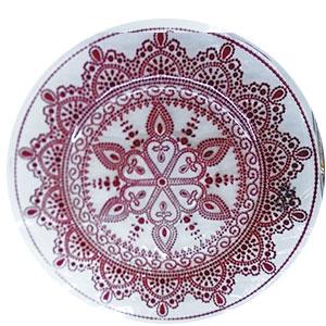 Plato de cristal con grabado rojo de 32cm