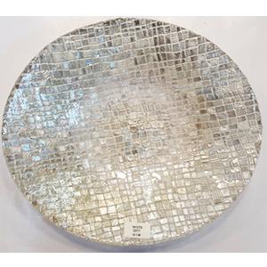 Plato de cristal diseño cuadros platas de 30cm