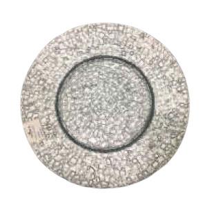 Plato de presentación de cristal plateado diseño cocodrilo de 33cm