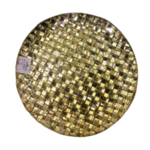 Plato de presentación de cristal diseño tejido dorado de 31xm