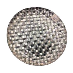 Plato de presentación de cristal diseño tejido plata de 31xm