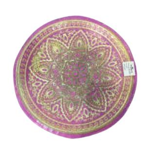 Plato de presentación de cristal lila con dorado con grabado de 33cm