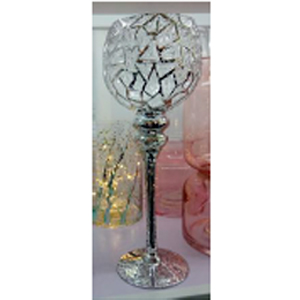 Copa de cristal diseño craquelado de 13x35cm