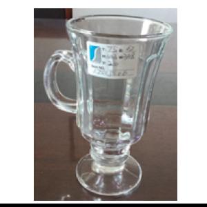 Taza de cristal para capuchino de 7x6x14cm