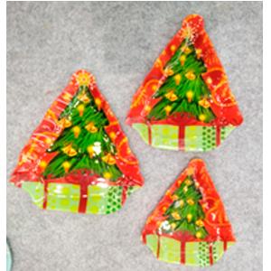 Plato de cristal diseño Árbol de navidad de 23.5x26.5x2.5cm