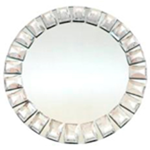 Plato de presentacion con cuentas cuadradas diseño espejo de 30x30cm