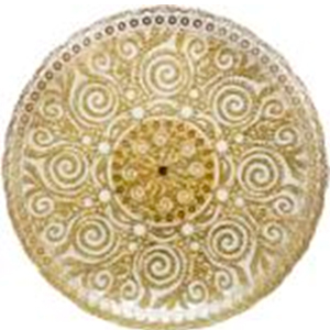 Plato de presentación de cristal con diseño gabrioleado dorado efecto brillante de 33 cm