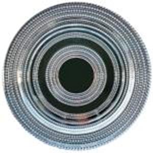 Plato de presentación de cristal con diseño perlas plateado de 33 cm