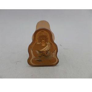 Candelabro de cristal café diseño Buda meditando de 8x6x11cm