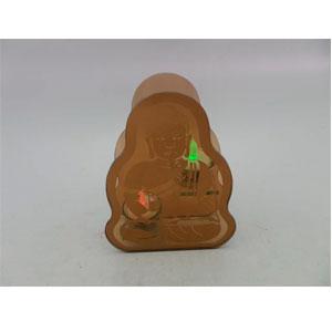 Candelabro de cristal café diseño Buda meditando de 16x6x21cm