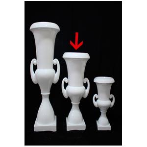 Florero diseño copa blanco de 48x48x90cm